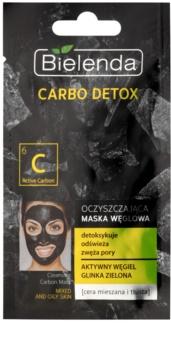 Bielenda Carbo Detox Active Carbon máscara de limpeza com carvão para pele oleosa e mista