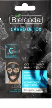 Bielenda Carbo Detox Active Carbon čisticí maska s aktivním uhlím pro suchou až citlivou pleť