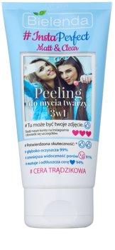 Bielenda #Insta Perfect Matt & Clear esfoliante facial 3 em 1 para pele problemática