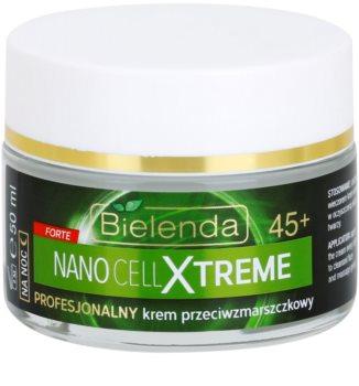 Bielenda Nano Cell Xtreme 45+ creme de noite antirrugas