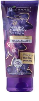 Bielenda Your Care Frangipani & Royal Jelly gommage corps au sucre pour une peau hydratée et raffermie