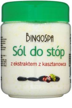 BingoSpa Chestnut koupelová sůl na nohy se sklonem k otokům a křečovým žilám