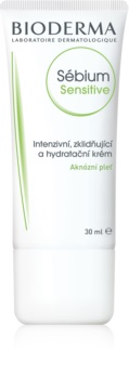 Bioderma Sébium Sensitive intenzivna, hidratantna i umirujuća krema za lice isušeno i nadraženo liječenjem akni