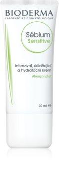 Bioderma Sébium Sensitive интензивен хидратиращ и успокояващ крем за кожа, която е суха и раздразнена от медикаментозно лечение на акне