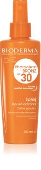 Bioderma Photoderm Bronz SPF 30 védő spray a természetes barnulás meghosszabbításáért SPF 30