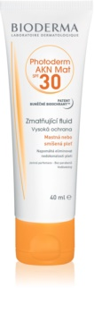 Bioderma Photoderm AKN Mat zaštitni matirajući fluid za lice SPF 30