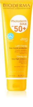 Bioderma Photoderm Max lapte protector pentru piele sensibilă SPF 50+