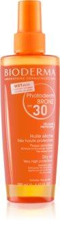 Bioderma Photoderm Bronz Oil Skyddande torrolja i spray SPF 30