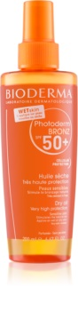 Bioderma Photoderm Bronz Oil Skyddande torrolja i spray SPF 50+