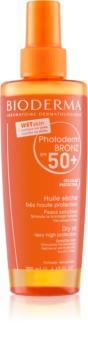 Bioderma Photoderm Bronz Oil spray cu ulei uscat protector SPF 50+