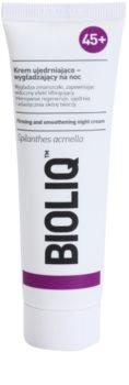 Bioliq 45+ crema reafirmante de noche con efecto lifting  para reafirmar el contorno