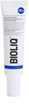 Bioliq 55+ интензивен лифтинг крем за нежна кожа за зоната около очите, устните, шията и деколтето