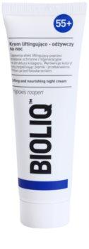 Bioliq 55+ нощен интензивен крем за регенерация и възстановяване на кожата