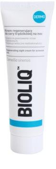 Bioliq Dermo crema notte rigenerante per pelli acneiche