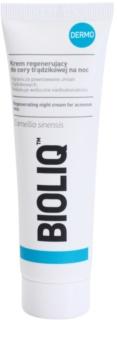 Bioliq Dermo nočna regeneracijska krema za aknasto kožo