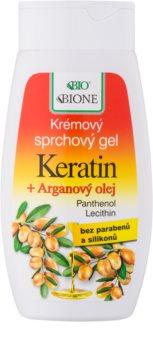 Bione Cosmetics Argan Oil + Karité tusfürdő gél Argán olajjal