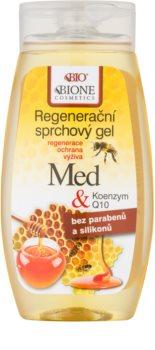 Bione Cosmetics Honey + Q10 regeneračný sprchový gél