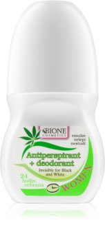 Bione Cosmetics Cannabis anti-transpirant roll-on  arôme fleurs