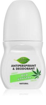 Bione Cosmetics Cannabis roll-on antibacteriano com fragrância floral