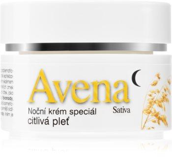 Bione Cosmetics Avena Sativa nočna krema za občutljivo kožo