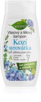 Bione Cosmetics Kozí Syrovátka šampon i gel za tuširanje za osjetljivu kožu