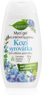 Bione Cosmetics Kozí Syrovátka gel de banho de higiene íntima para mulheres para pele sensível