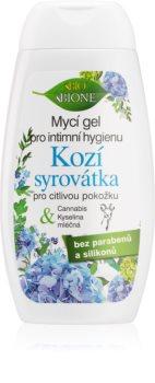 Bione Cosmetics Kozí Syrovátka ženski gel za prhanje za intimno higieno za občutljivo kožo