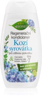 Bione Cosmetics Kozí Syrovátka après-shampoing régénérant pour peaux sensibles