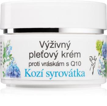 Bione Cosmetics Kozí Syrovátka krema za obraz proti gubam s koencimom Q10