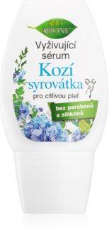 Bione Cosmetics Kozí Syrovátka hranilni serum za obnovo gostote kože za občutljivo kožo