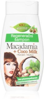 Bione Cosmetics Macadamia + Coco Milk sampon pentru regenerare
