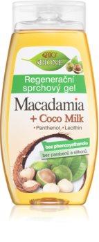 Bione Cosmetics Macadamia + Coco Milk gel de banho regenerador