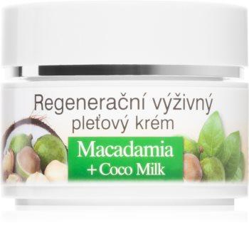 Bione Cosmetics Macadamia + Coco Milk regeneracijska krema za obraz za prehrano in hidracijo