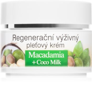 Bione Cosmetics Macadamia + Coco Milk Regenerating Face Cream with Nourishing and Moisturizing Effect