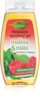 Bione Cosmetics Malina & Máta gel de dus relaxant