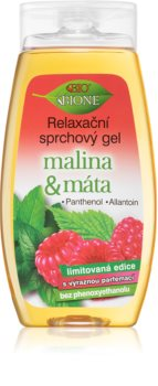 Bione Cosmetics Malina & Máta Rentouttava Suihkugeeli