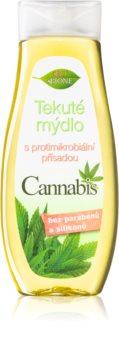 Bione Cosmetics Cannabis рідке мило для рук з антибактеріальними компонентами