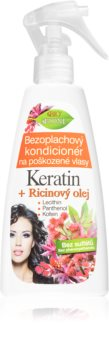 Bione Cosmetics Keratin + Ricinový olej Regenerating Leave-In Conditioner for Hair