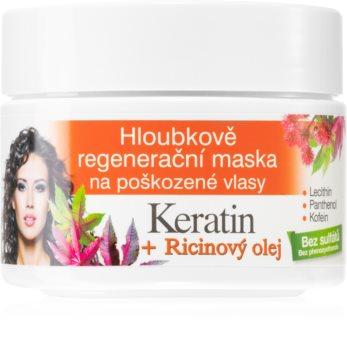 Bione Cosmetics Keratin + Ricinový olej Elvyttävä Hiusnaamio