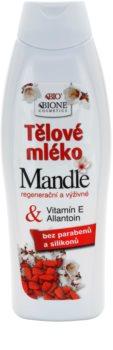 Bione Cosmetics Almonds lait corporel nourrissant à l'huile d'amande