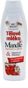 Bione Cosmetics Almonds leite corporal nutritivo com óleo de amêndoas