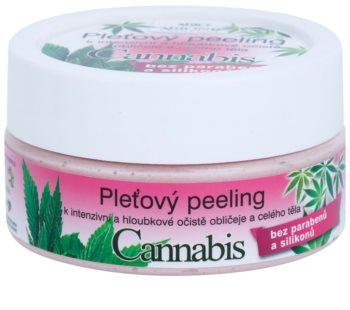 Bione Cosmetics Cannabis peeling facial para rosto e corpo