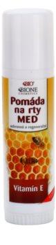 Bione Cosmetics Honey + Q10 захисний та відновлюючий бальзам для губ з вітаміном Е