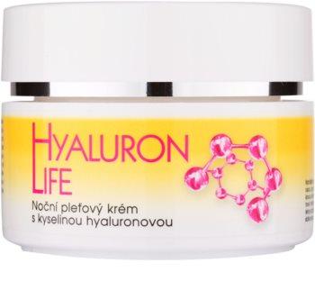 Bione Cosmetics Hyaluron Life crema facial de noche con ácido hialurónico