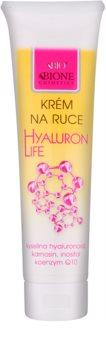 Bione Cosmetics Hyaluron Life kézkrém regeneráló hatással