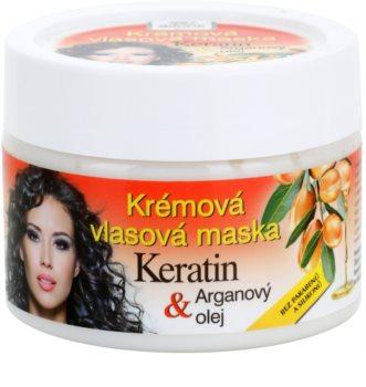 Bione Cosmetics Keratin Argan Regenerierende Maske für das Haar