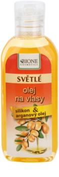 Bione Cosmetics Keratin Argan λάδι για ανοιχτές αποχρώσεις μαλλιών