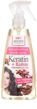 Bione Cosmetics Keratin Kofein Hiuksiin Jätettävä Hoitoaine Suihkeessa