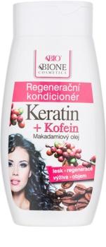 Bione Cosmetics Keratin Kofein après-shampoing régénérant pour cheveux