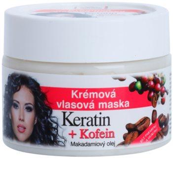 Bione Cosmetics Keratin Kofein κρεμώδης μάσκα για τα μαλλιά